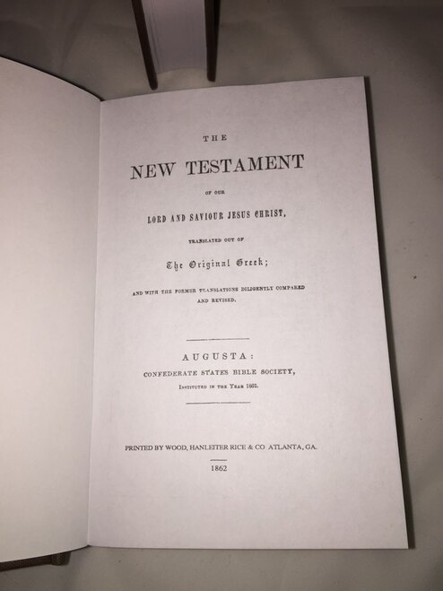 Confederate New Testament - Reproduction