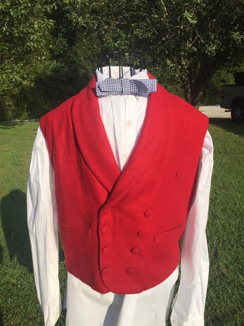 Double breasted men's civilian vest