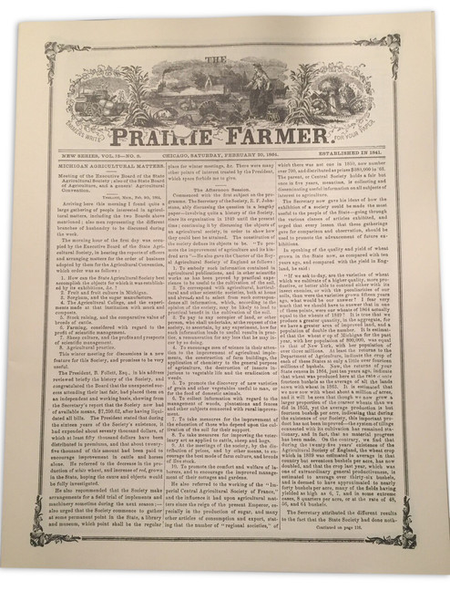Front cover of Prairie Farmer magazine