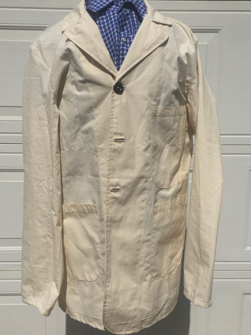 Front of repro cotton sack coat