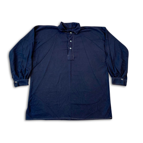 Navy wool flannel shirt
