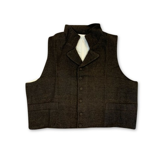 Front view of 1812 era vest