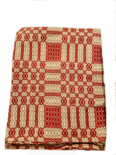 Red/Tan Coverlet