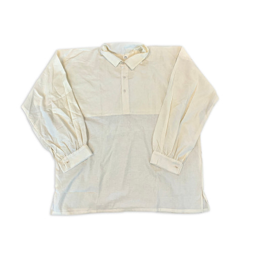 "Cotton/Linen ""on the square"" shirt"