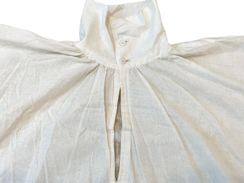 Men's Shirt - Late 18th/Early 19th Century - collar and placket detail