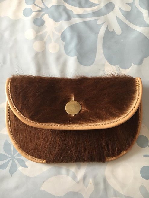 Hair on Hide Belt Pouch