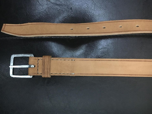 18th/19th Century Leather belt with tinned buckle