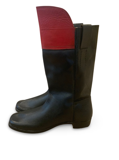 Mid 19th Century Boot -14 inch red top
