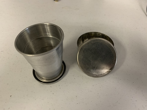 19th century collapsible cup