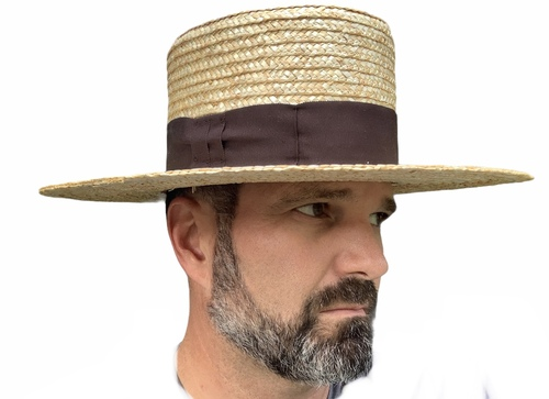 Straw Hat  - 5 inch crown, 4 inch brim