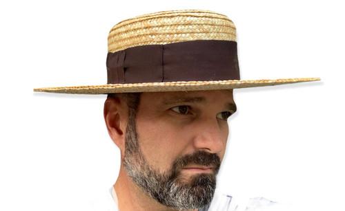 """Straw Hat - 3 1/2"""" Crown, 4"""" Brim"""