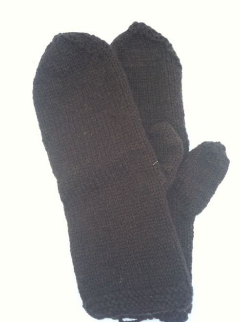 18th century mittens in navy blue