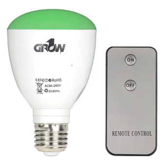 Grow1 Green LED Light Bulb w/ Remote