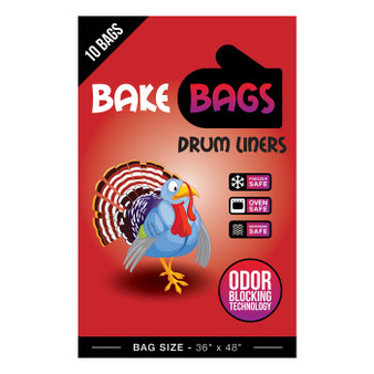 Bake Bags 55 Gallon Drum Liners 36'' W x 48'' H (10/Pack)