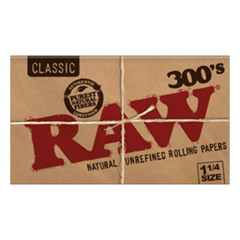 RAW Classic Creaseless Papers 1-1/4'' 300 Leaves/Pack - Box of 20