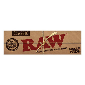 RAW Classic Papers Single Wide 50 Leaves/Pack - Box of 25
