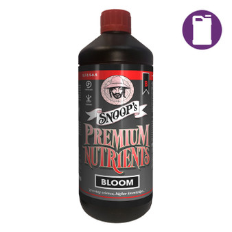 Snoop's Premium Nutrients Bloom B Non-Circulating 1ltr 0.7-2.5-6.7 (Soil, Hydro Run To Waste)