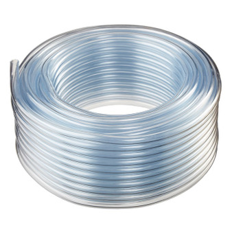 3/16'' x 25' Clear Food Grade Poly Tubing
