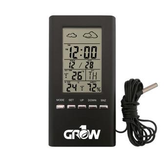 GROW1 Indoor & Outdoor Temperature And Humidity Hygrometer w/ Probe