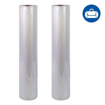 NatureVAC 15''x19.5' Vacuum Seal Bags All Clear (2 Rolls)