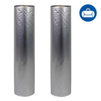 NatureVAC 15''x19.5' Vacuum Seal Bags Aluminum Mylar (2 Rolls)