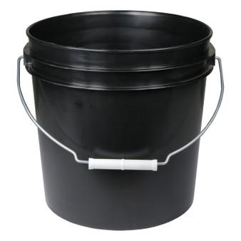 2 Gal Black Bucket w/ handle