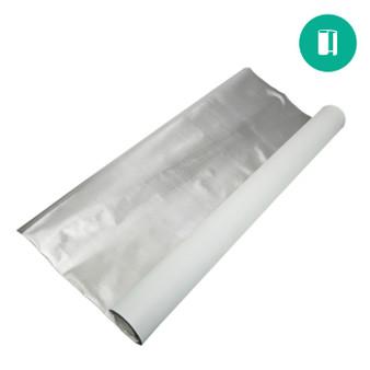 Diamond Foil on White 110mic - 4'x100'