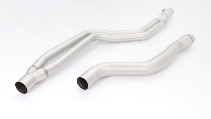 Remus Non-Resonated Cat back System Left/Right with Integrated valves using the OE valve control system with 2 Carbon tail pipes Ø 102 mm angled, Titanium internals - 2 Series F22/F23 M240i 250 kW B58B30 2015-2018