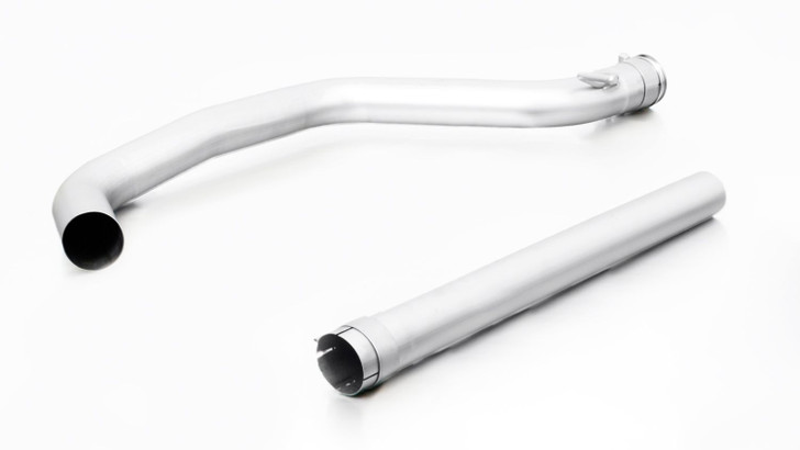 Remus Exhaust Non-Resonated Cat back System Left/Right with 2 tail pipes 98 mm Black Chrome, straight, carbon insert - Golf Mk7 Hatchback 2.0 GTI 169 kW CHHA 2013-2016
