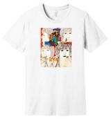Beatles (White) – Hand Drawn Artwork - 100% Ringspun Cotton T-Shirt
