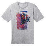 1992 Supercross Dirt Bike – Vintage Reprint – Grey –100% Ringspun Cotton T-Shirt