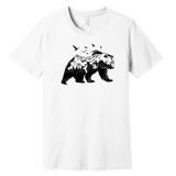 Mountain Bear – White – Ringspun Cotton T-Shirt