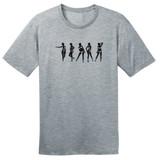 Strip N' Dip – Grey – Ringspun Cotton T-Shirt