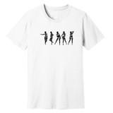 Strip N' Dip – White – Ringspun Cotton T-Shirt
