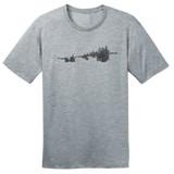 In The Bush, In The Bush, In The Bush – Grey – Ringspun Cotton T-Shirt