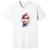 Tupac 2Pac – Multi Color Art – Ringspun Cotton