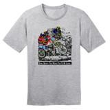 Dual Sport–Too Much Fun To Be Legal – Grey – 100% Ringspun Cotton T-Shirt