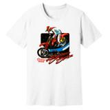 1988 Supercross Dirt Bike – Vintage Reprint – White –100% Ringspun Cotton T-Shirt