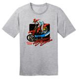 1988 Supercross Dirt Bike – Vintage Reprint – Grey –100% Ringspun Cotton T-Shirt