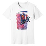 1992 Supercross Dirt Bike – Vintage Reprint – White –100% Ringspun Cotton T-Shirt