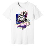 1989 Supercross Dirt Bike – Vintage Reprint – White –100% Ringspun Cotton T-Shirt
