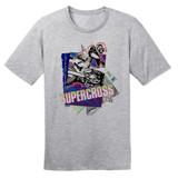 1989 Supercross Dirt Bike – Vintage Reprint – Grey –100% Ringspun Cotton T-Shirt