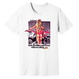 80's Vintage Honda CR500 Girls, DirtBikes & Pizza – White – 100% Ringspun Cotton T-Shirt