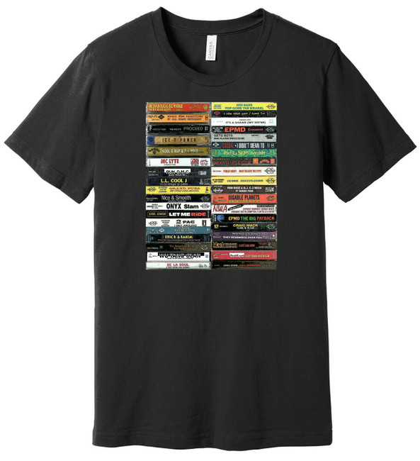 90's Hip-Hop Cassette Tapes - Mix Tapes mixtape - 100% Ringspun Cotton T-Shirt