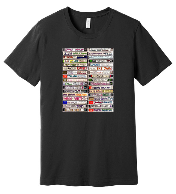 80's New Wave Cassette Tapes - Mixtape 2 - 100% Ringspun Cotton T-Shirt
