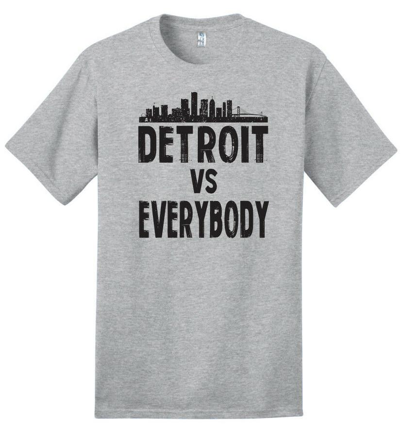 Detroit VS Everybody (Skyline) - 100% Ringspun Cotton T-Shirt