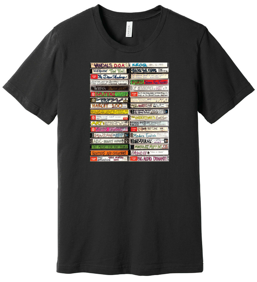 80's New Wave Cassette Tapes - Mix Tapes 1 - 100% Ringspun Cotton T-Shirt