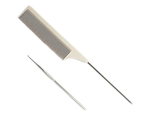Dollylocks Silkomb Pro-50 Comb & Steel Hook Combo
