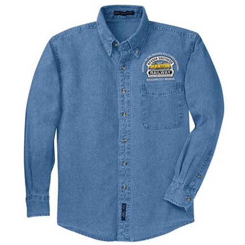 Friends Long-Sleeve Faded Denim Shirt