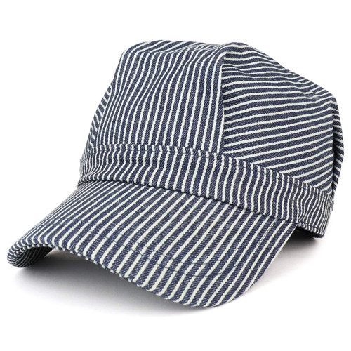 Adult's Hickory Stripe Railroad Engineer's Cap